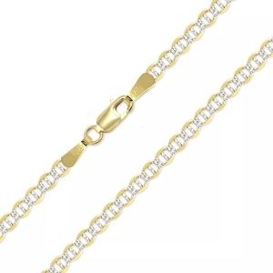 Other - NEW Real Gold Diamond Cut Mariner Chain 3mm 22""